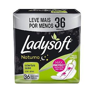 ABSORVENTE FEMININO LADYSOFT NOTURNO SUAVE COM ABAS - 36 UNIDS
