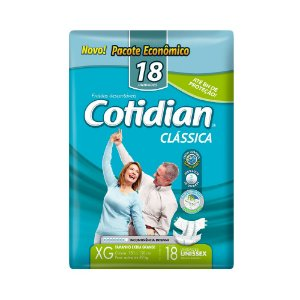FRALDA DESCARTÁVEL ADULTO COTIDIAN CLÁSSICA XG COM 18 UNIDS