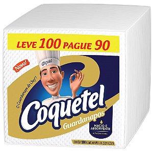 GUARDANAPO COQUETEL  22 X 23 CM - PCT LEVE 100 PAGUE 90 UNIDADES