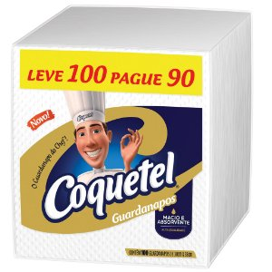 GUARDANAPO COQUETEL  30 X 33 CM - PCT LEVE 100 PAGUE 90 UNIDADES
