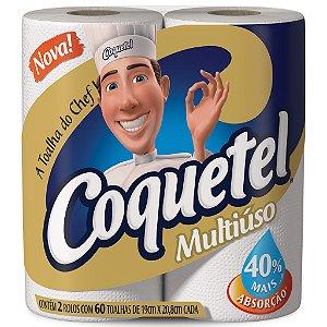 Papel Toalha COQUETEL 02 Rolos com 60 Unids - Multiuso
