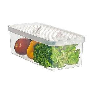 Caixa ORDENE Para legumes e Saladas -Tamanho P-Cor TRANSPARENTE