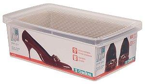 Caixa Plástica ORDENE para  Sapato-Cor Transparente