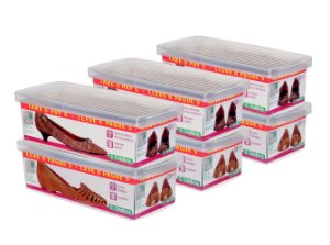 Conjunto ORDENE Caixa Para  Sapato- LEVE 6 PAGUE 5-Cor TRANSPARENTE