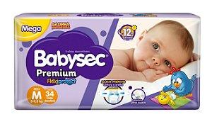 Fralda BabySec GALINHA PINTADINHA Premium - M - 34 unids - Experimente e se Surpreenda