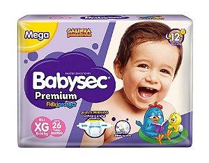Fralda BabySec GALINHA PINTADINHA Premium - XG - 26 unids - Experimente e se Surpreenda
