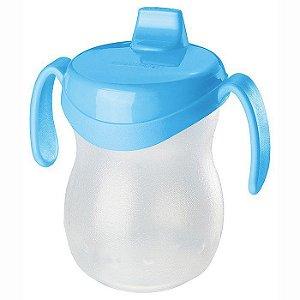 Copo Infantil Plástico-310ml-Cor Azul-SANREMO