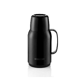 Garrafa Térmica Plástico- Para 01 Litro-GOSTAR-Cor Preta-SANREMO
