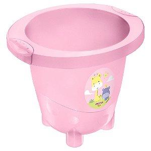 Ofurô Infantil Plástico -18 Litros-Cor Rosa-SANREMO
