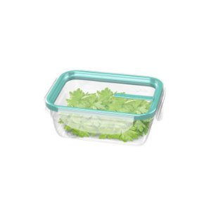 Pote Com Travas Plástico-330 ml- Cor Verde-SANREMO