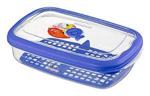 Pote FIAMBRES Plástico - 2,4 Litros-Cor Azul -SANREMO