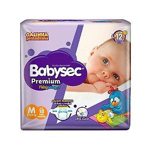 Fralda BabySec GALINHA PINTADINHA Premium - M - 18 unids