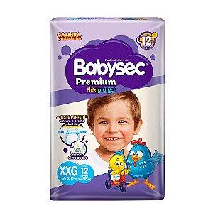 Fralda BabySec GALINHA PINTADINHA Premium - XXG - 12 unids