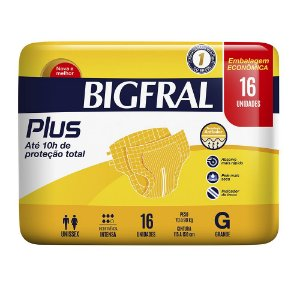 Fralda BIGFRAL PLUS  GD 16 Unidades