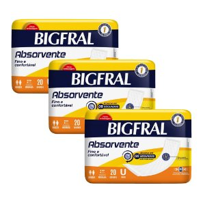 Kit 03 BIGFRAL ABSORVENTE 60 Unidades