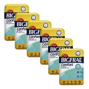 Kit 06 Fraldas BIGFRAL CONFORT GD 48 Unidades