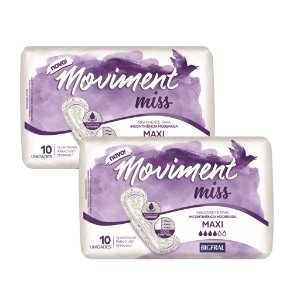 Kit 02 Absorventes MOVIMENT MISS MAXI 20 Unidades