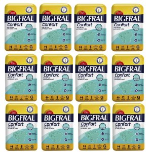 Kit 12 Fraldas BIGFRAL CONFORT GD 96 Unidades