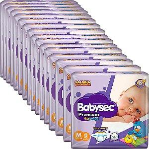 Kit 16 Fralda BabySec GALINHA PINTADINHA Premium - M- 288unids - Experimente e se Surpreenda