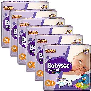 Kit 6 Fralda BabySec GALINHA PINTADINHA Premium - M - 108 unids - Experimente e se Surpreenda