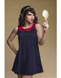 Vestido 60s Mod Gola Redonda