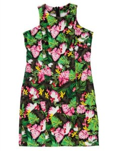 Vestido Tubinho Tropical Floral Tiki