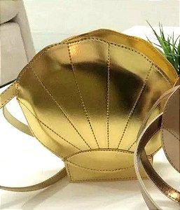Bolsa de Concha Sereia Dourada
