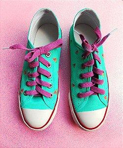 Tênis Sugoi Melancia com Bolinhas Cadarço Colorido
