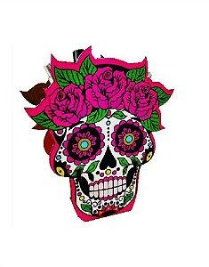 Porta-lápis Caveira Mexicana Pink