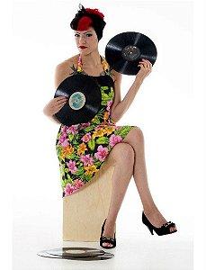 Vestido Frente Única - Floral Tiki