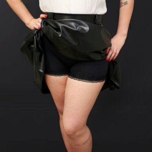 Shorts Calcinha Hot Pants Renda Básica Pin Up Retrô Rockabilly