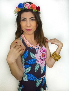 Coroa Tiara de Flores  Frida Kahlo Vintage Style Ajustável