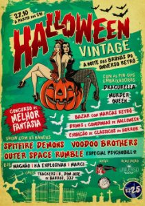 Ingresso Festa Halloween Vintage - Dia das Bruxas do Universo Retrô 27/10/18