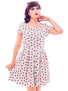 Vestido de Joaninha e Laço Atrás em 2 cores Pin Up Retrô