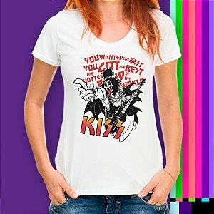 Camiseta Rock n Roll Kiss Metal 80s Statika Retrô