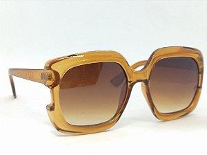 Óculos Quadrado Grande Marrom Anos 70 80 Vintage Retrô