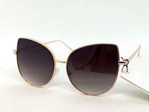 Óculos Gatinho anos 70 Dourado Pin Up Retrô