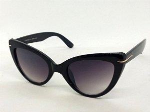 Óculos Escuros Gatinho Clássico Preto Pin Up Retrô