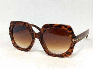 Óculos Geométrico 60s 70s Jackie O Oncinha Pin Up Retrô