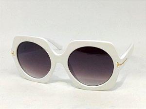 Óculos Geométrico 60s 70s Brigitte Branco Pin Up Retrô