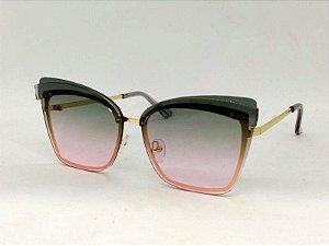 Óculos Retrô anos 70 Quadrado Degradê Colorido