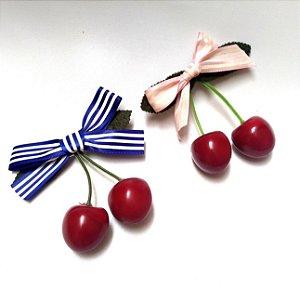Presilha de Cabelo Cherry Cerejinha Pin Up Retrô Cerejas
