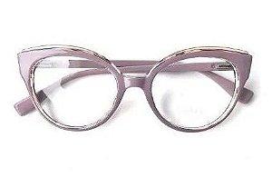 Óculos de Grau Armação Gatinho Duplo Pin Up Vintage Retrô