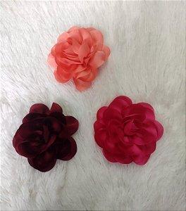 Flor de Cabelo e Broche Pin Up  Retrô Redonda