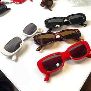 Óculos Escuros Retangular anos 60 80 Mod Retrô
