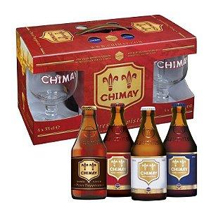Kit Chimay 4gf 330ml + 2 copos