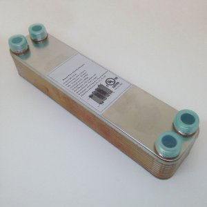 """Trocador de Calor 23A-20 3/4"""" - 20 placas Inox brasado (Chiller)"""