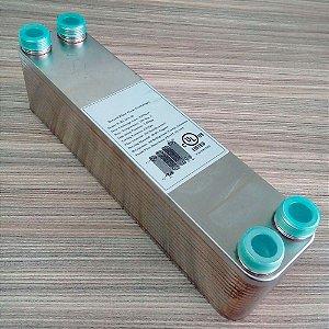 """Trocador de Calor 23A-30 3/4"""" - 30 placas Inox brasado (Chiller)"""