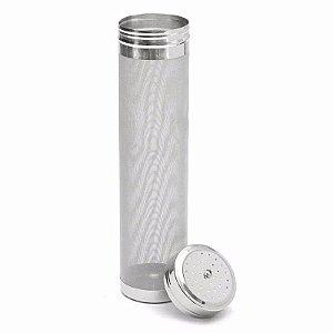 Filtro de lúpulo c/ tampa 300 micra 70x300mm