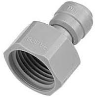 """Conexão engate rápido para torneira ou extratora - Tubo BSP 3/8"""" x 5/8"""" - Chopp"""